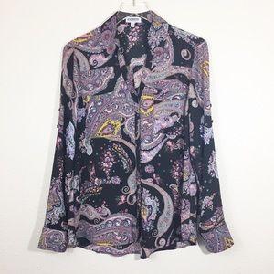 Express Portofino Shirt Paisley Print Size Large